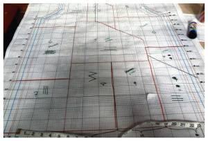 Valbonne Jacket on graph paper