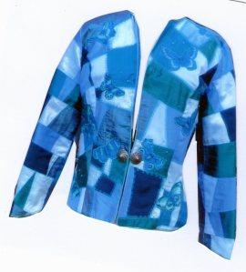 My blue patchwork jacket