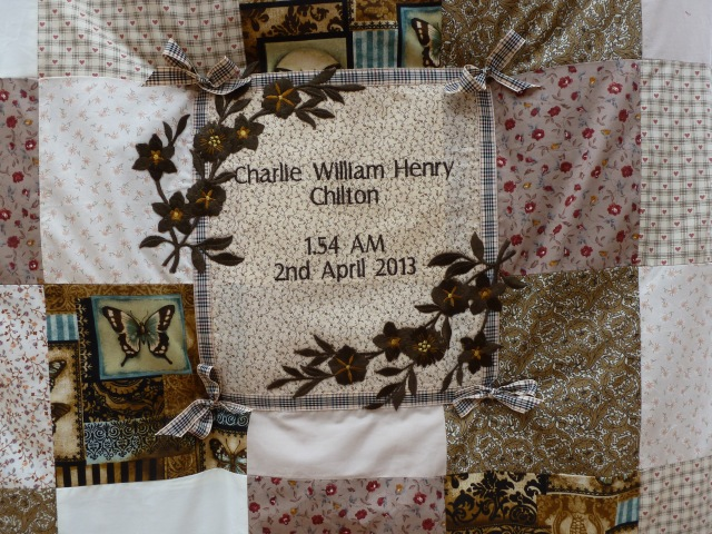 Charlie's quilt - close up