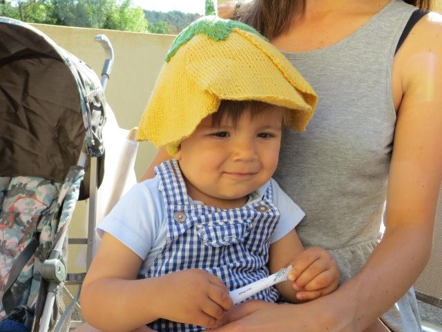 Marcel wearing buttercup