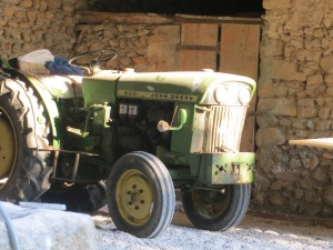 The tractor that came with the property